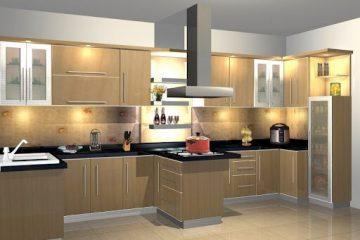 Desain Kitchen Set Minimalis Sidoarjo Bergaya Japandi