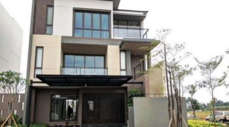 exterior rumah mewah bernuansa jepang