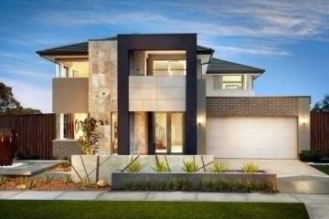 exterior rumah mewah modern dan elegan