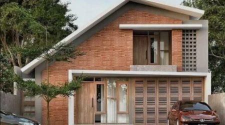 fasad rumah minimalis dengan batu bata