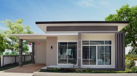 fasad rumah minimalis dengan kaca besar