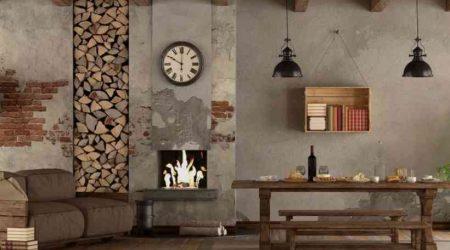 jasa desain interior rumah murah rustic