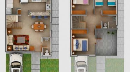 jasa desain rumah 2 lantai dengan balkon