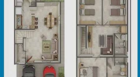 jasa desain rumah 2 lantai dengan ruang pribadi
