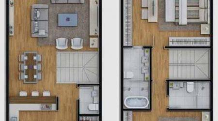 jasa desain rumah 2 lantai dengan ruang tamu luas