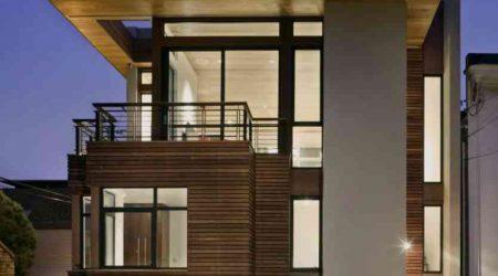 jasa desain rumah minimalis 2 lantai dengan flat roof