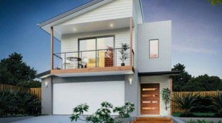 jasa desain rumah minimalis 2 lantai dengan skillion roof