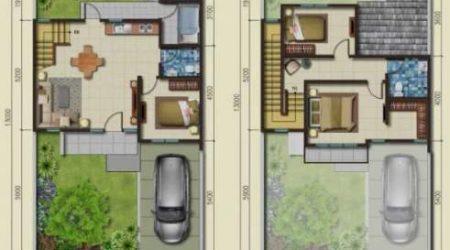 rumah minimalis 2 lantai dengan 4 kamar tidur