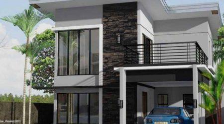 rumah minimalis 2 lantai dengan balkon