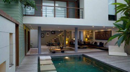 rumah minimalis 2 lantai dengan kolam renang