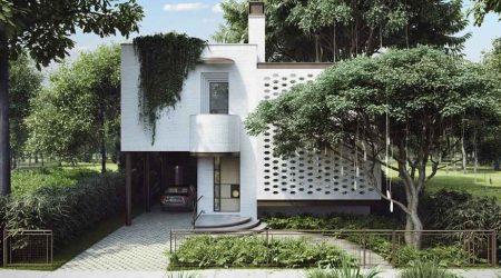 rumah minimalis tampak depan dengan asri
