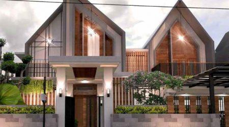 rumah minimalis tampak depan atap pelana