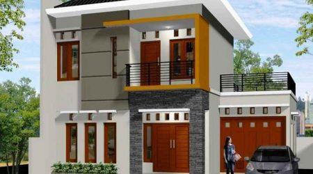 rumah minimalis tampak depan dengan warna cantik