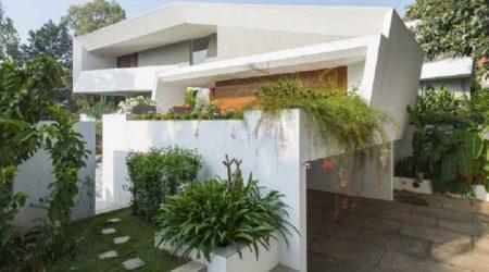 rumah minimalis tampak depan asimetris