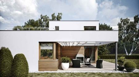 rumah minimalis tampak depan kombinasi kayu