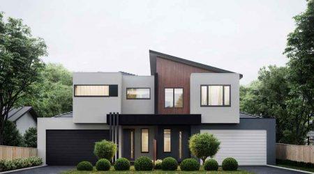 rumah minimalis tampak depan tema monokrom