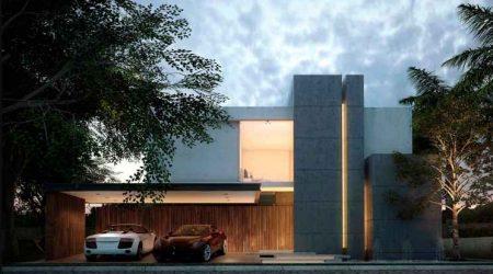 rumah minimalis tampak depan tertutup