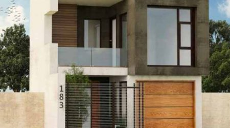 rumah tingkat minimalis atap kubus