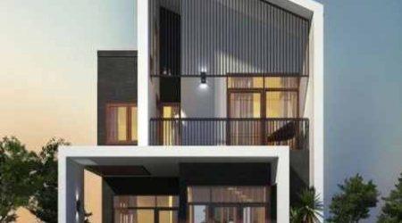 rumah tingkat minimalis atap menyudut