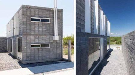 rumah tingkat minimalis dengan batako