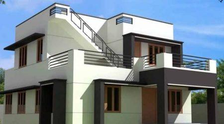 rumah tingkat minimalis rooftop